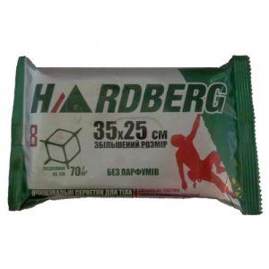 Влажные салфетки Hardberg Очищающие для тела без запаха