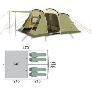 Палатка Pinguin Interval 4 (Green)