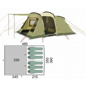 Палатка Pinguin Interval 6 (Green)