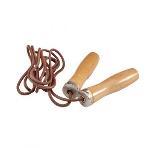 Скакалка Liveup Jump Rope Leather LS3121 Brown