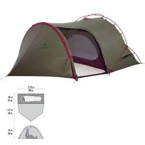 Msr Hubba Tour 1 Tent Green (95492)