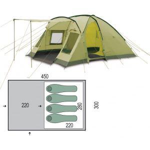 Палатка Pinguin Nimbus 4 (Green)