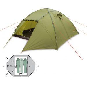 Палатка Pinguin Tornado 2 Dural (Green)