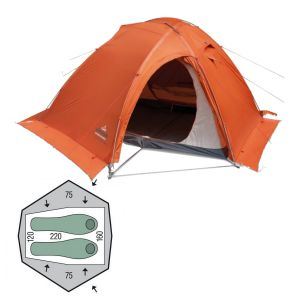 Палатка Pinguin Vega Extreme Snow (Orange)